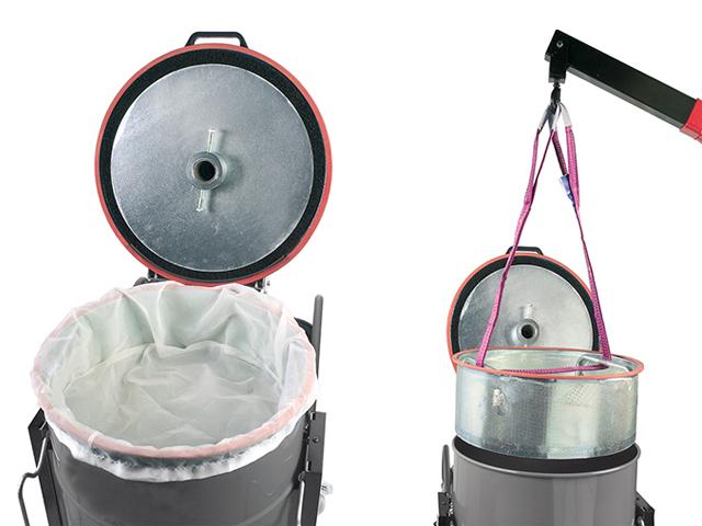 Пылесос с корзиной для стружки. Фильтрация стружки и СОЖ.